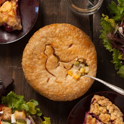 Pack of 3 Pot Pie or Fruit Pie Minis